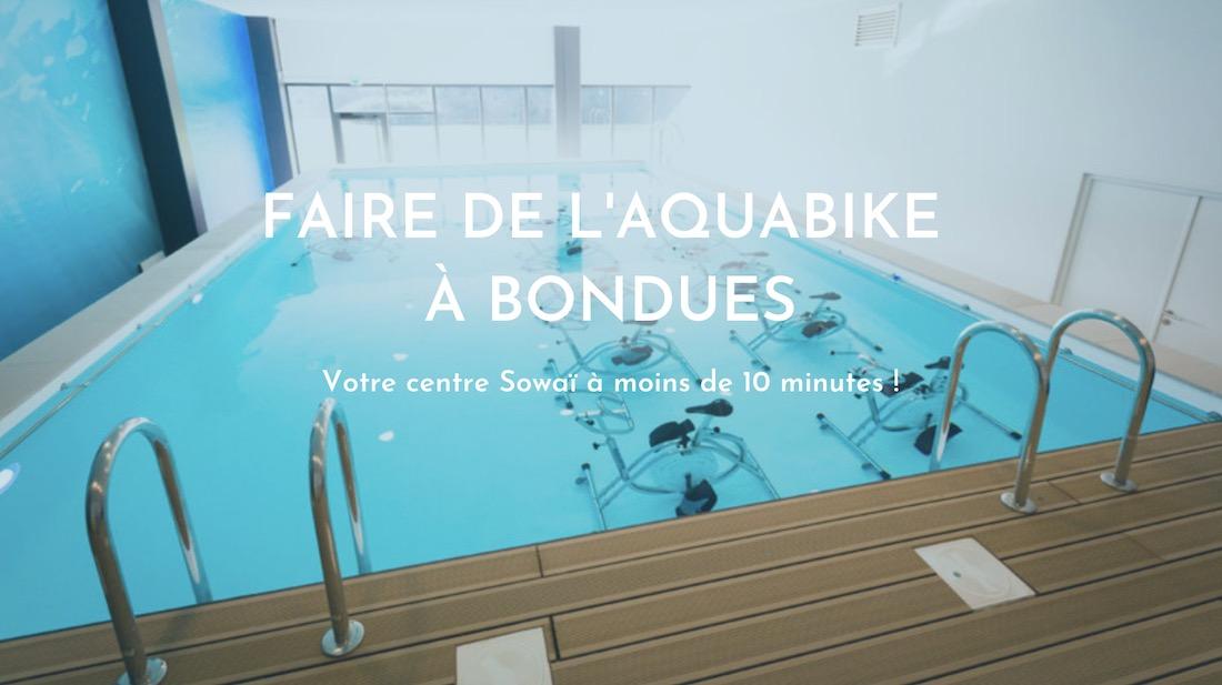 Faire de l'aquabike à moins de 10 minutes de Bondues dans votre centre Sowaï !