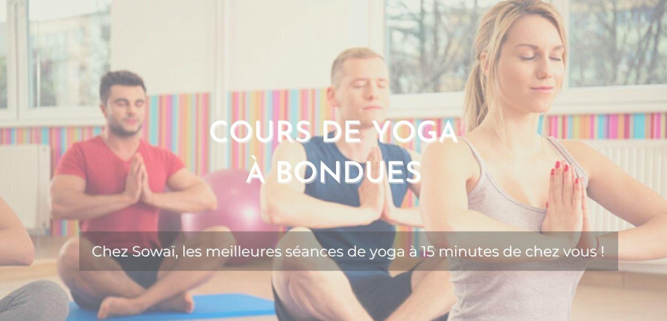 """Cours de yoga chez Sowaï, accompagnée de la mention : """"Cours de Yoga à Bondues, les meilleures séances de yoga à 15 minutes de chez vous !"""""""