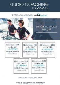 Découvrez notre offre de rentrée 2020 MIHA BODYTEC dans votre centre Sowaï Lille.